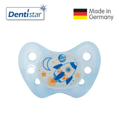 OceanoKidz.com - Dentistar Tooth-friendly Night Pacifier (6-14 months) size 2 without ring - Rocket [No protective cap]