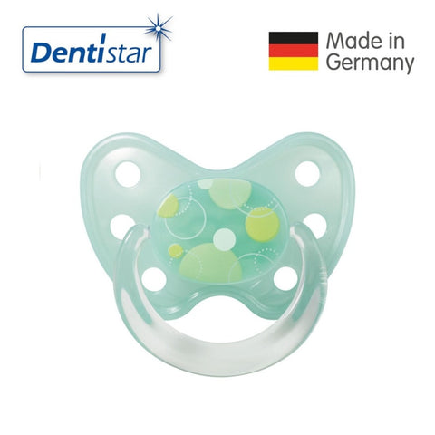 OceanoKidz.com - Dentistar Tooth-friendly Pacifier Soother Silicone (14+ months) size 3 with ring - Circles
