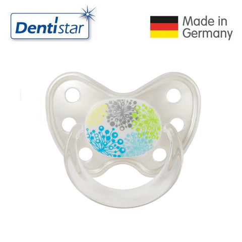 OceanoKidz.com - Dentistar Tooth-friendly Pacifier Soother Silicone (14+ months) size 3 with ring - Dandelion [No protective cap]