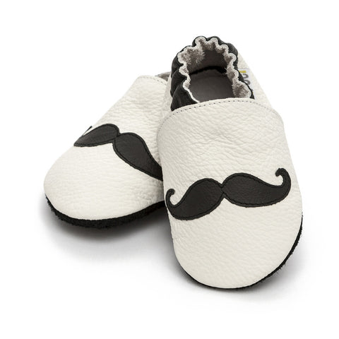 Liliputi® Soft Leather Baby Shoes - Moustache