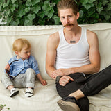 OceanoKidz.com - Liliputi® Soft Leather Baby Shoes - Moustache
