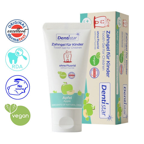 OceanoKidz.com - Dentistar Non-Fluoride Tooth Gel for Children, Apple, 60ml