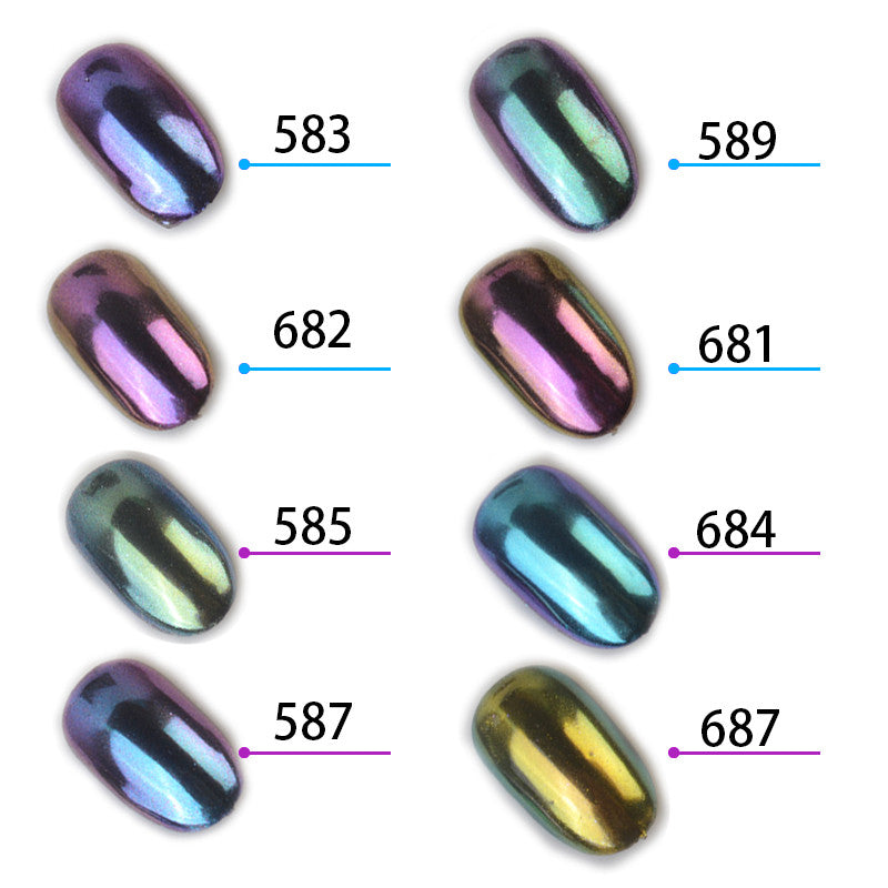 1g/box Shinning Mirror Nail Glitter Powder Gorgeous Nail Art Chrome Pigment Manicure Glitters Dust Nail Art Decorations