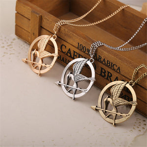 2017 New Hot Selling European and American popular Retro Punk Style hunger game bird Necklace for men and women