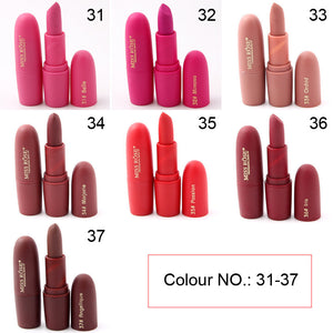 2017 Brand Makeup Red Lips Matte Velvet Lipstick Pencil Cosmetic Long Lasting Lip Tint Pigment Makeup Nude Brown Lipstick