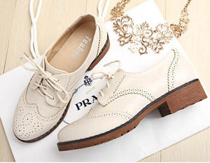 PLUS brogue Oxford shoes women flats new autumn 2016