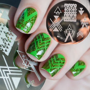 BORN PRETTY Negative Space Nail Art Stamping Stamp Template Image Plates Cool Triangle Nail Stamp Plate