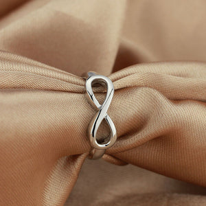 Best Friend Gift High Quality 925 Sterling Silver Infinity Ring Endless Love Symbol Wholesale Fashion Rings For Women
