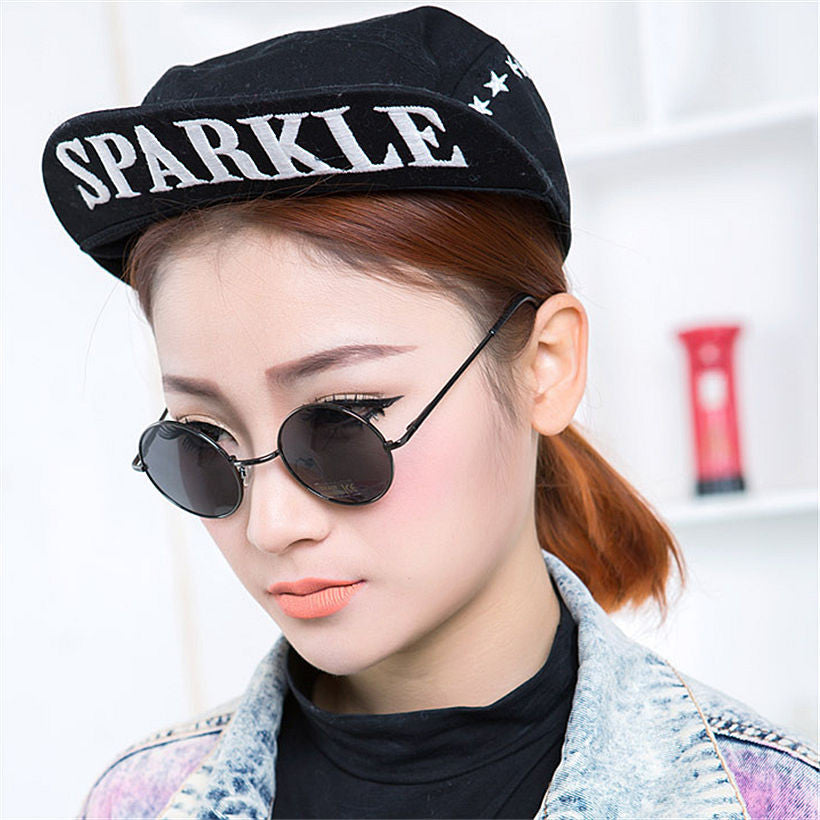 7b3ff305b74 Fashion Round Sunglasses Men Women Vintage Circle Male Female Gold Sun  Glasses For Women Men Brand