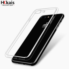 For Apple iPhone 6 7 Case Slim Crystal Clear TPU Silicone Protective coque for iPhone 7 4 5S 5 SE 6 6s plus cover cases