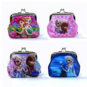 1 Piece Coin Purses Elsa Anna Olaf Square Hasp PVC Coin Purse Girls - Gifts Leads