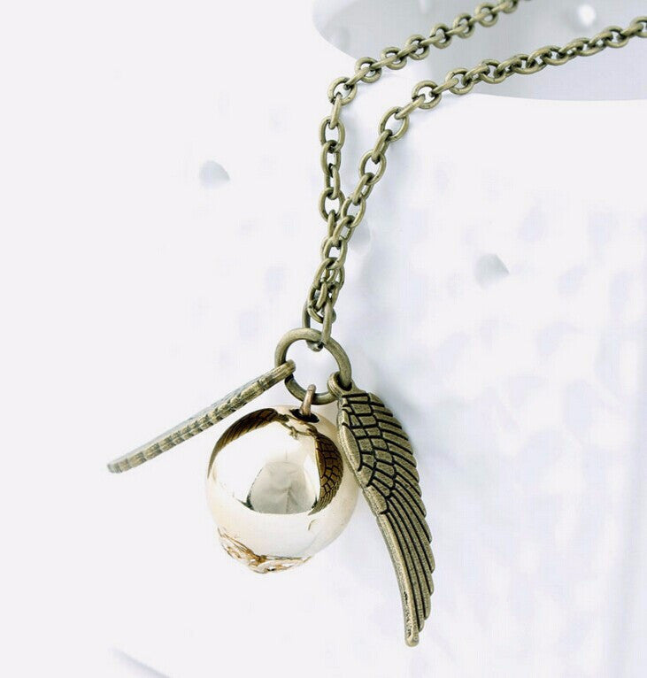 the Deathly Hallows necklace Snitch 2016 AliExpress network exquisite necklace collar Retail & Wholesale