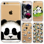 Panda Case for iphone 6 6s Plus 6Plus 5s SE 4 4s 5 5C Cats Animals soft silicone transparent funda coque cover skin back shell