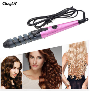 Pro Hair Curler Electric Ceramic Hair Curler Spiral Hair Roll Curling Iron Wand Salon Hair Styling Tools Styler HS10-V31
