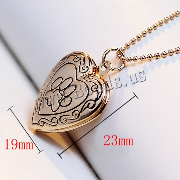 Valentine Lover Gift Animal Dog Paw Print Photo Frames Can Open Locket Necklaces Gold Plated Heart Pendants fit Necklace Women