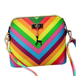 2016 Rainbow shell bag summer beach Famous brand