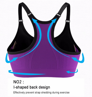 Crop Tops Sports Bra Breathable Fitness Stretch Underwear No Bound Push Up Yoga Bras With Padding ropa deportiva