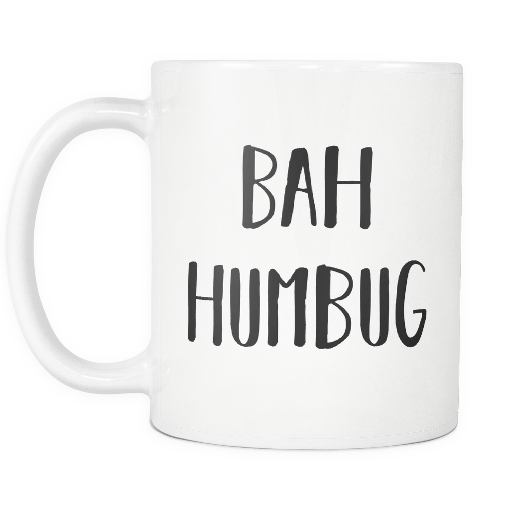 Bah Humbug Christmas Coffee Mug - Coffee Mug - Bah Humbug Mug - Christmas Coffee Cup - Unique Gift
