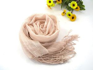 175-55CM New Fahion 2016 Summer Autumn Candy Color Tassels Scarf Women Vintage Linen Scarves Shawl 20 Colors - Gifts Leads