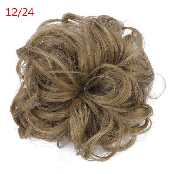 1PC Synthetic Hair Chignon Elastic Scrunchee Hairpiece Donunt Buns Hair Bundles Hairpieces Natural Hair Bun Extension Chignons - Gifts Leads