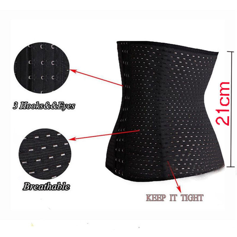 42003f0c08ecf Unisex Body Shaper Latex Rubber Waist Trainer Cincher Underbust Corset  Shapewear