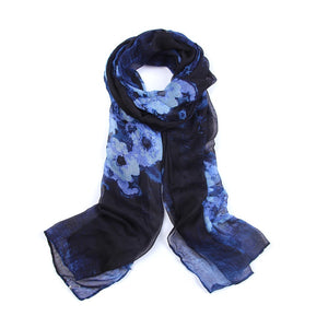 Fashion Pretty Flower Printing Scarf Spring Autumn All-match Long Scarves Multifunction Women Viscose Shawls and Scarves