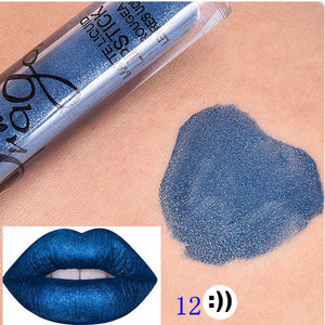 Brand Batom Nude Lipstick Tint for Lips Cosmetics Longwear Not Fade Magic Lip Gloss Matte Metallic Liquid Lipstick Tinte Labbra