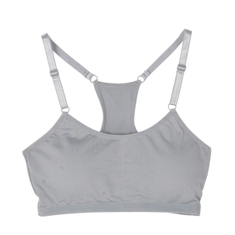 Women Seamless Racerback Bra Fitness Padded Stretch Workout Top Tank Solid Color