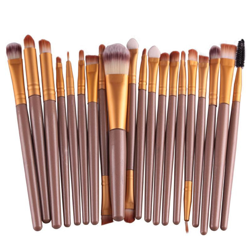 20pcs Eye Makeup Brushes Set Eyeshadow Blending Brush Powder Foundation Eyeshadading Eyebrow Lip Eyeliner Brush Cosmetic Tool