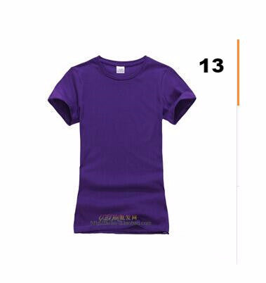Fashion pure cotton short sleeved women's T-shirt bottoming t shirt women candy colors female t-shirts