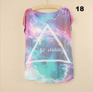 Factory Outlet New  summer T-shirt Women harajuku Unique short sleeve With the cat printing  Casual T-shirt Tees Tops