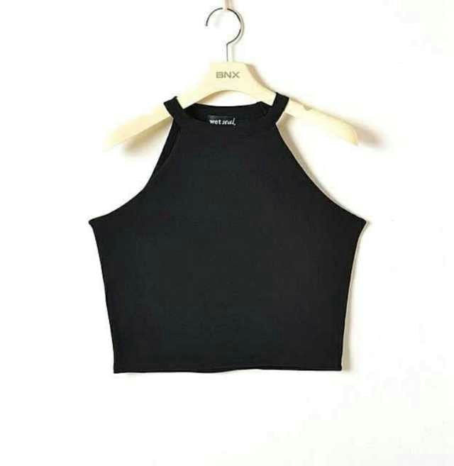 5 colors New Women Summer Tight 100% Cotton Elastic Crop Tops Cute Sleeveless T-shirts Lady Sexy Stretchable Cropped Tees