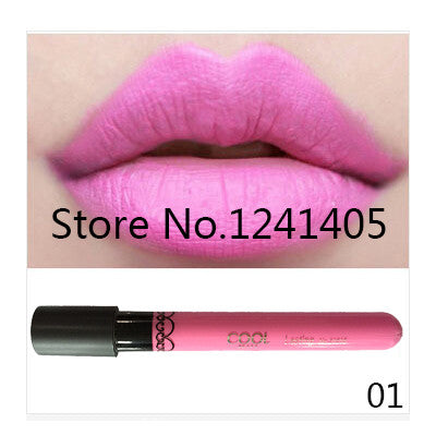 Amazing 12 Colors Matte Lipstick Color Waterproof Long-Lasting Nude Lip Gloss Red Color Vitality Cerise 4.4g Makeup Brand