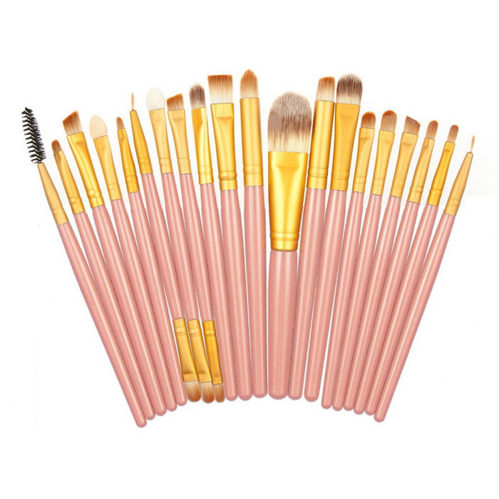 Professional 20 Pcs Makeup Brushes Set Powder Foundation Eyeshadow Eyeliner Lip Cosmetic Makeup Brushes Maquiagem  #BSEL