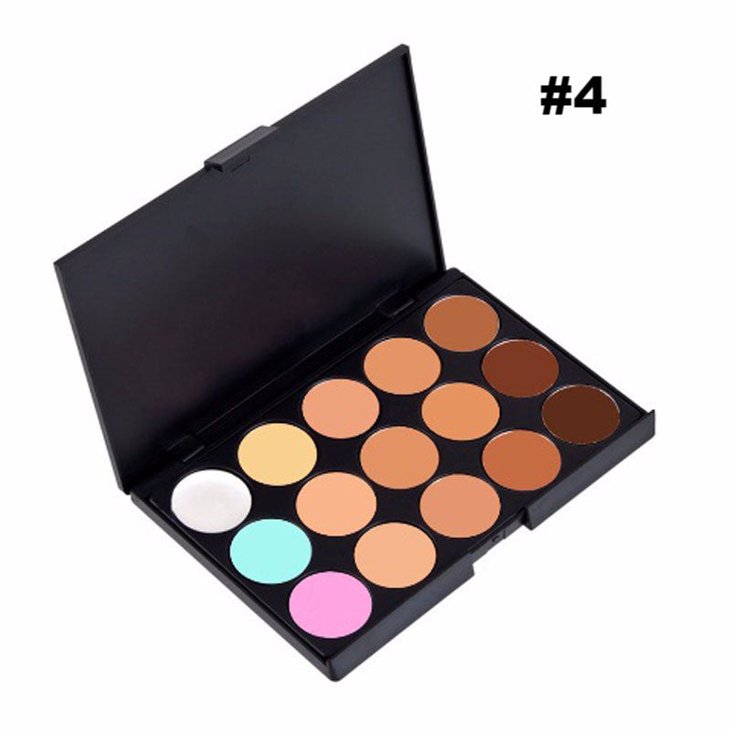 Brand 5 Different New fashion 15 Earth Color Concealer Matte Pigment Eyeshadow Palette Cosmetic Makeup Eye Shadow for women
