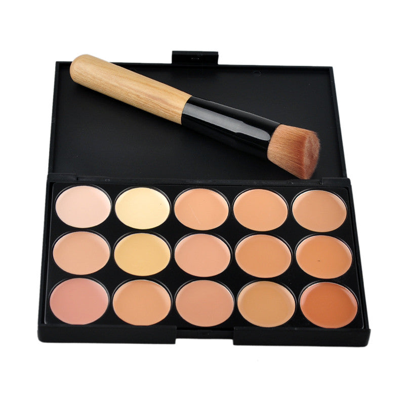 15 Color Foundation Make-up Concealers Palette With Brush Makeup Concealer Camouflage Cream Eye Face Cosmetic