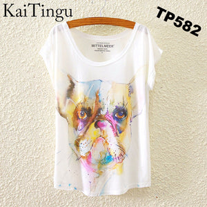 Brand New Fashion Spring Summer Harajuku Short Sleeve T Shirt Women Tops Eiffel Tower Printed T-shirt White Cloth