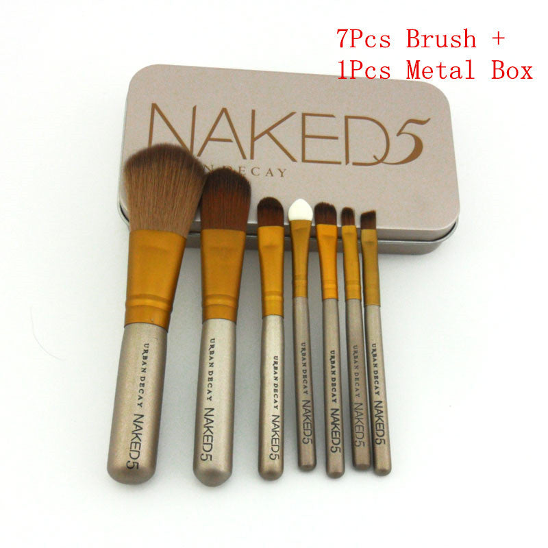Power Brush Makeup Brushes Professional Make Up Brush kit Maquiagem Beauty eye Face Tool Metal Box