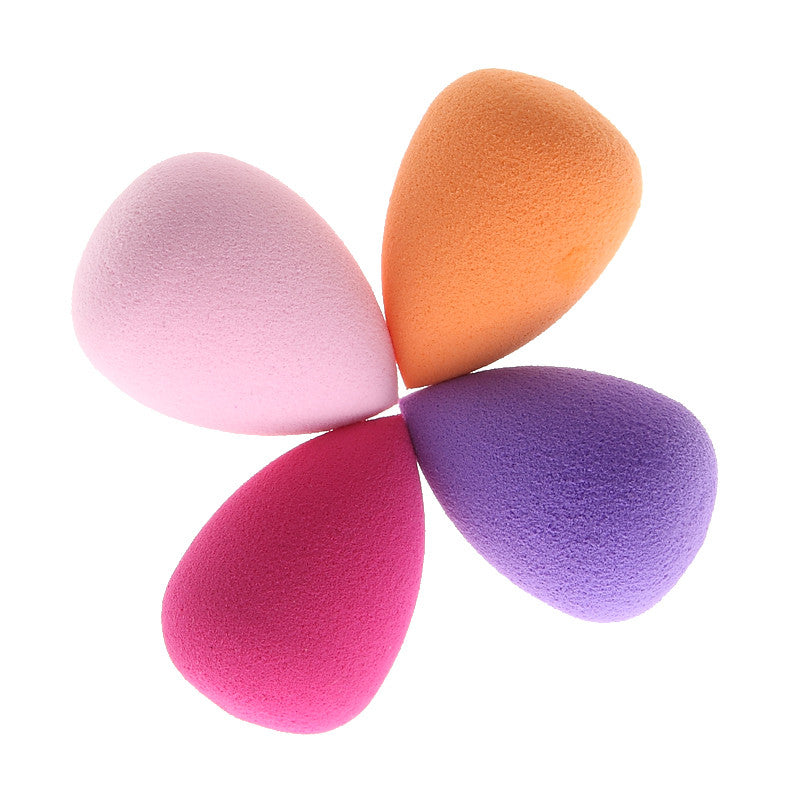 4 Color Mini Droplet Shape Makeup Cosmetic Puff Set Foundation Base BB Cream Blender Concealer Blusher Flawless Mixed Beauty Kit
