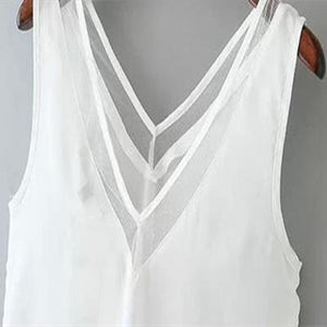 Tank Top  New Arrival Summer Style Women Tank Top Black /White Sexy Chiffon Tops Casual Woman Sleeveless Blouse