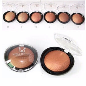 1PC Women Bronzer Blush Palette Face Makeup Baked Cheek Color Blusher Professional paleta de blush from Miss Rose Brand