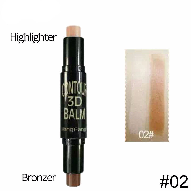 2 in 1 Complexion+Embellish Highlighter and Shimmer Stick Concealer Bronzer 3 Colors 6.2g Face Makeup
