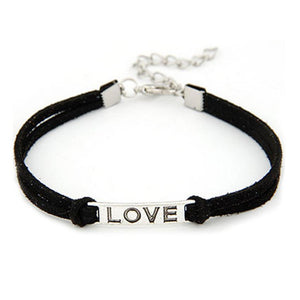 1PC Women Men Love Handmade Alloy Rope Charm Jewelry Weave Bracelet Gift