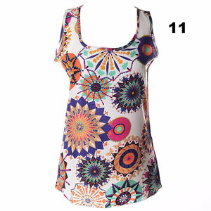 New arrival sleeveless vest color lip printed all-match chiffon tanks women comfortable casual clothings