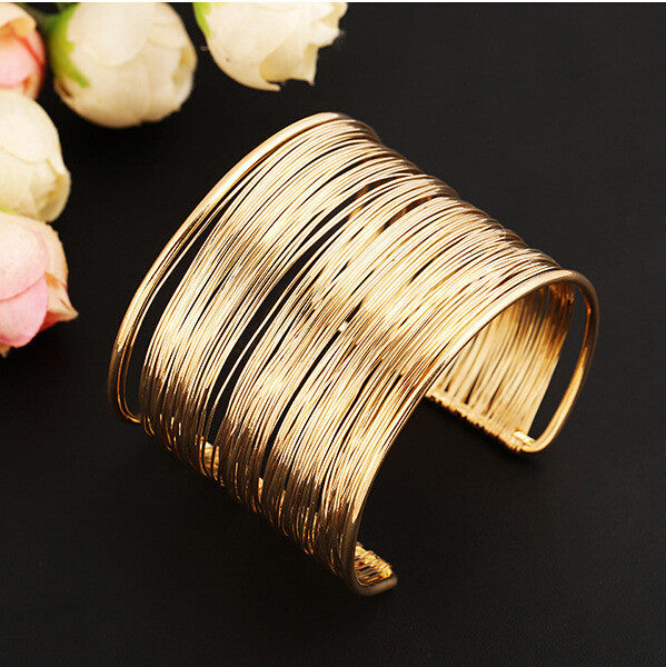 17 Kinds Women Unisex Charm Bracelets Fashion Vintage Bracelets Simple Geometric Style Pop Punk Metal Bracelet Gold Bangles