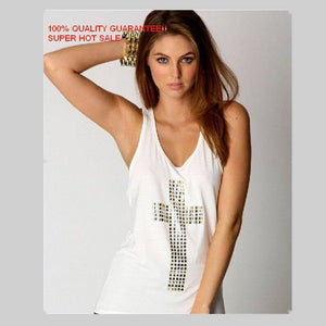Cotton cute  fashion diamond cross low thermal women vest women tank top women sleeveless tops