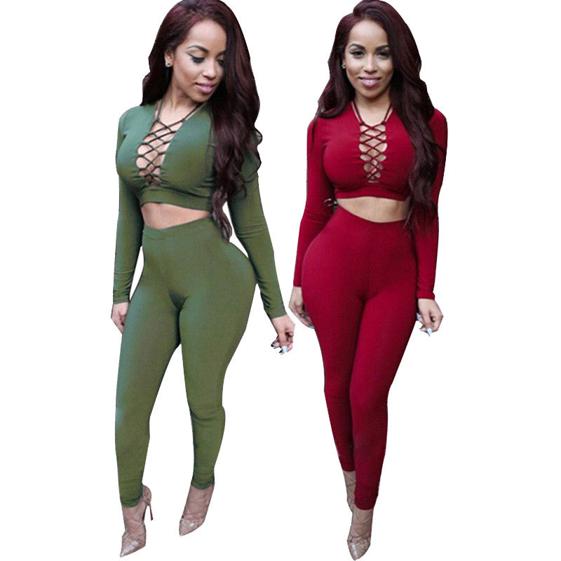 Sexy Rompers Womens Jumpsuit 2017 Long Sleeve Criss Cross Overalls For Women Bodysuit Cotton Bodycon Playsuits And Jumpsuits