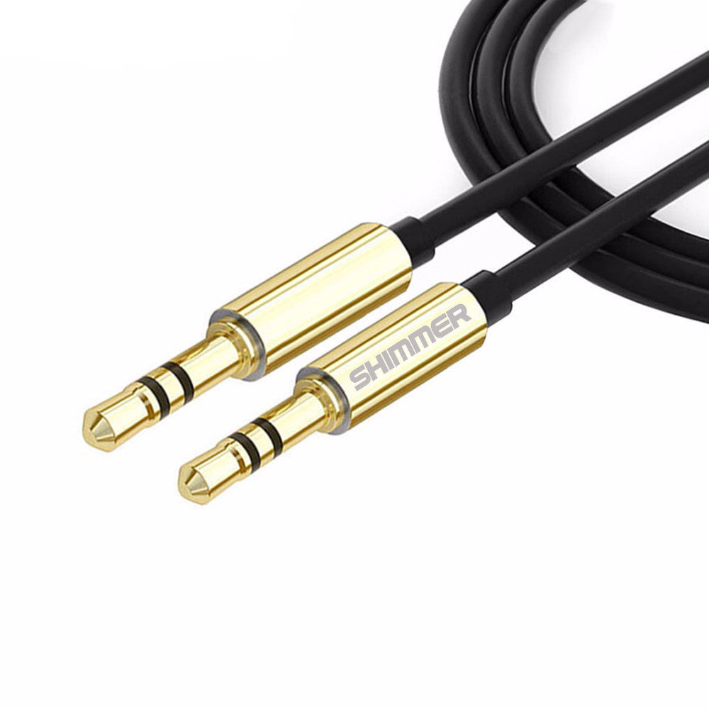 1M 2M Male to Male 3.5mm to 3.5mm Universal Gold Plated Auxiliary Audio Stereo Cable AUX Cord Jack to Jack Device