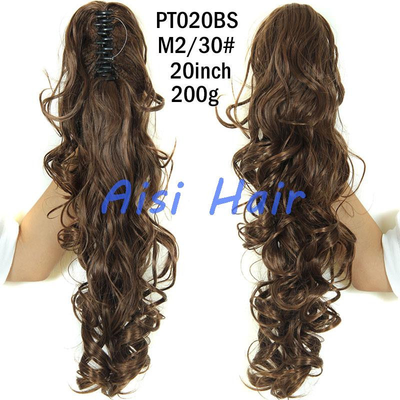 "20"" Long Claw Clip Drawstring Ponytail Fake Hair Extensions False Hair Pony Tails Horse Tress Curly Synthetic Hairpieces Pieces"