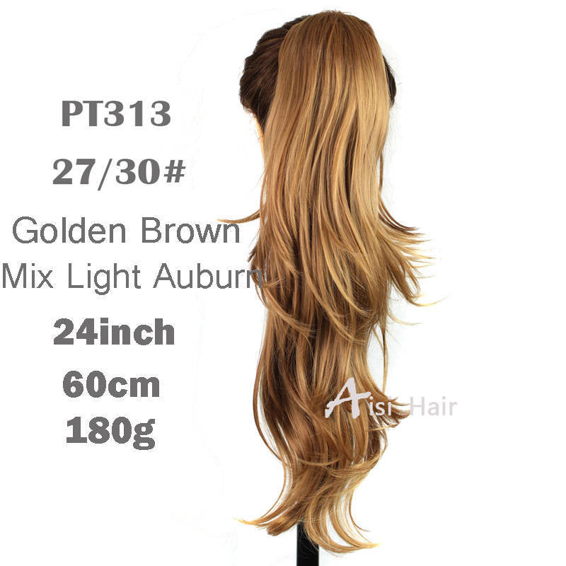 Synthetic Long Curly Wavy Claw Drawstring Clip False Ponytail natural Hair Extension Fake Tress Hairpieces My Little Pony Tail